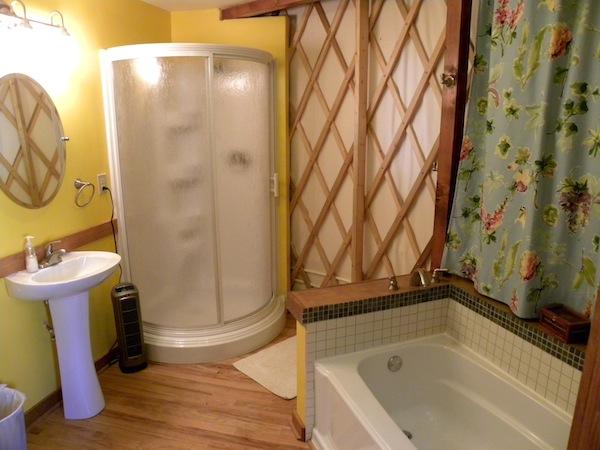 The Living Room With Sky Bar Tile Floors Cair Paravel Enterprises: Yurt For Rent!