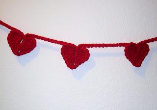 Heart Garland - Crochet Heart+garland