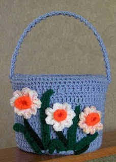 Not So Random Thoughts: Easter Bunny Basket Crochet Pattern