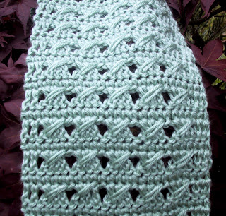 PATTERN DIAGONAL KNITTED SCARF | Browse Patterns