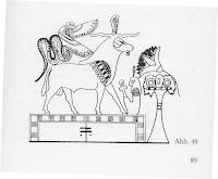 Serafín protegiendo al buey Apis