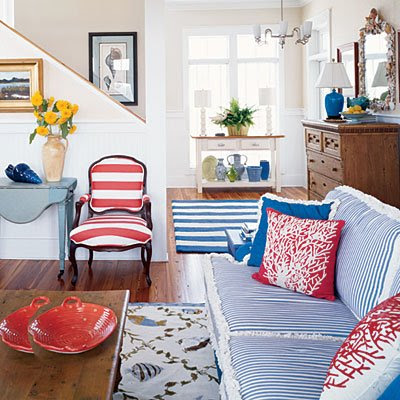 Coral Pillow Accents