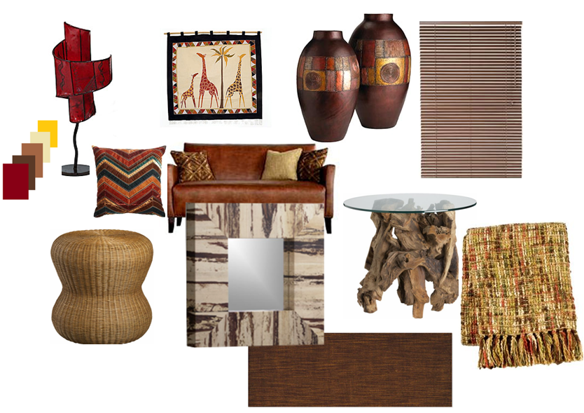 Mood Boards Inspirations: African Influence in the Living ...