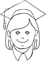 Coloring cabin graduation graduate coloring pages for Graduation cap and gown coloring pages