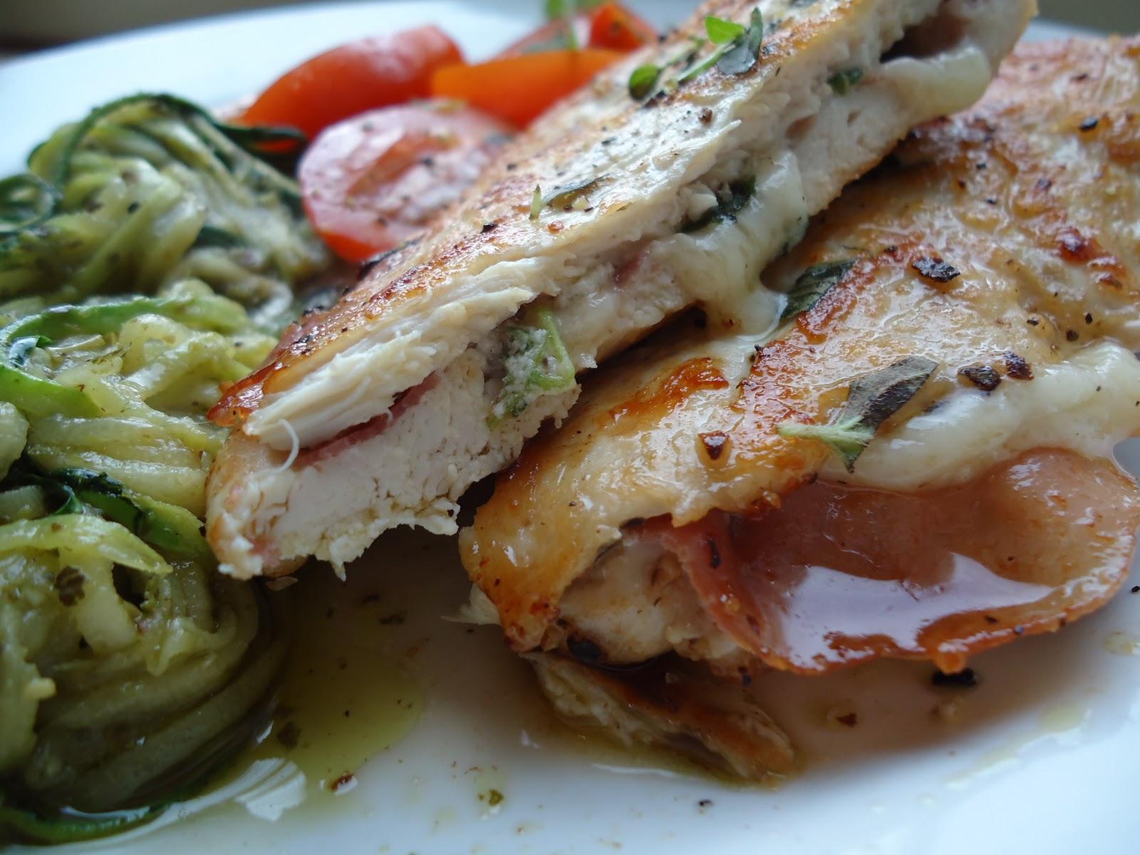 LCHF-bloggen: Banket kylling med ost og skinke