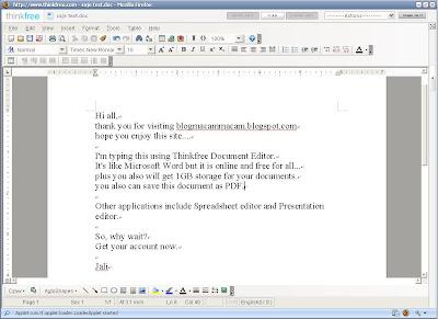 Thinkfree Online Screenshot 2.