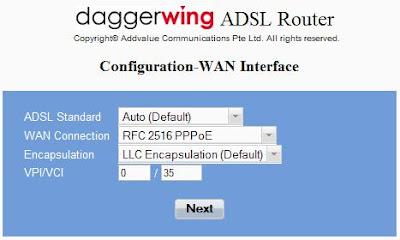 Daggerwing admin console.
