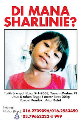 Where is Sharlinie? poster.