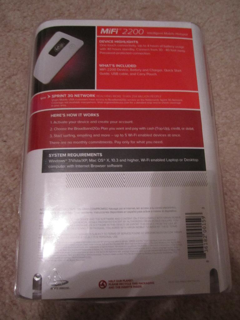 ARogan: Virgin Mobile MiFi 2200
