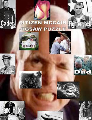 CITIZEN MCCAIN JIGSAW PUZZLE copyright 2007 cosanostradamus blog me no blogs