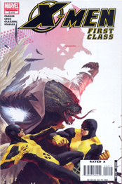 BEAST tangles with another green manimal, the LIZARD in X-MEN: FIRST CLASS #2!