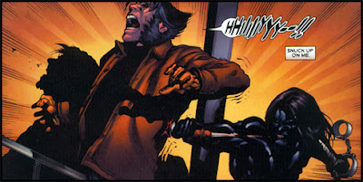 Wolverine greets his friend with an unusually sissy scream!