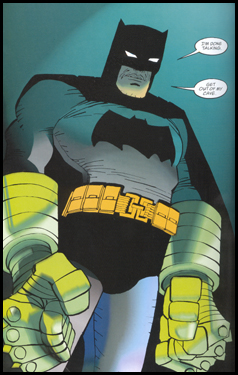 The Kryptonite gloves are on when FRANK MILLER writes and draws BATMAN: As seen in DARK KNIGHT STRIKES AGAIN #1!