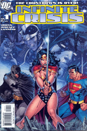 THE TRINITY as featured on the cover to INFINITE CRISIS #1!