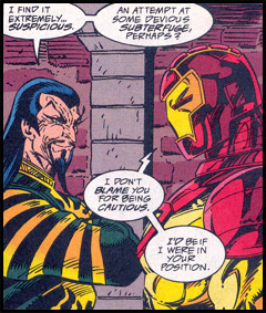 TONY STARK surrenders himself to the mercies of THE MANDARIN: Seen in IRON MAN #312!