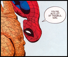 Spidey sasses Rhino in a solicited flashback series: As seen in SPIDER-MAN: BLUE #2!