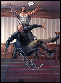 SINISTER invades the mansion and neutralises XAVIER: As seen in ULTIMATE X-MEN #49!