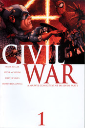 Original cover to CIVIL WAR #1, by Steve McNiven!