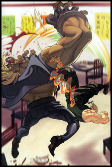GUILE delivers some justice to BIRDIE in the pages of UDON's STREET FIGHTER #1!
