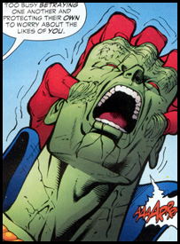 DESPERO probes MARTIAN MANHUNTER with his own telepathy: Seen originally in JLA #115!
