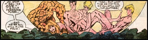 Naked Fantastic Four orgy. Heroes with feet of clay, or sick Skrull rituals? U-DECIDE!