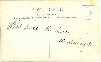 message on postcard about war horse