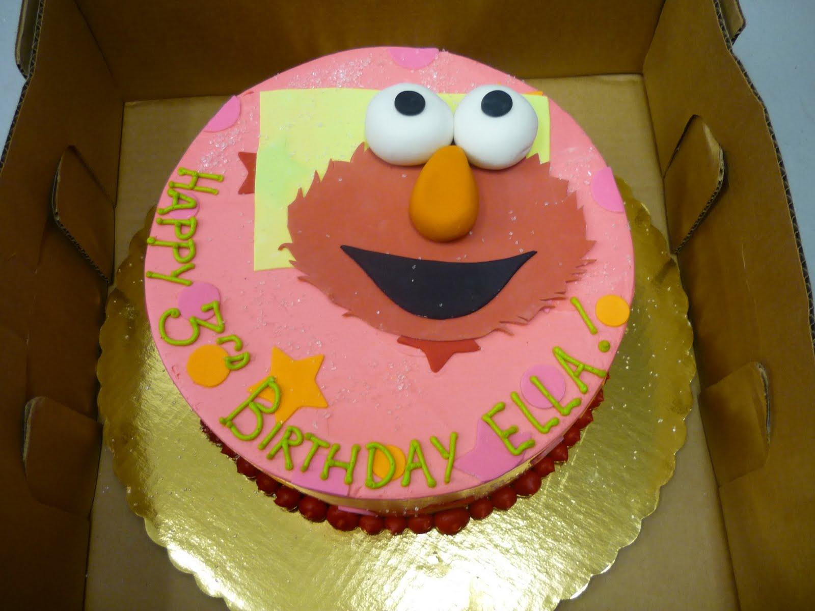 Artisan Bake Shop Round Buttercream Birthday Cake Elmo on Pink