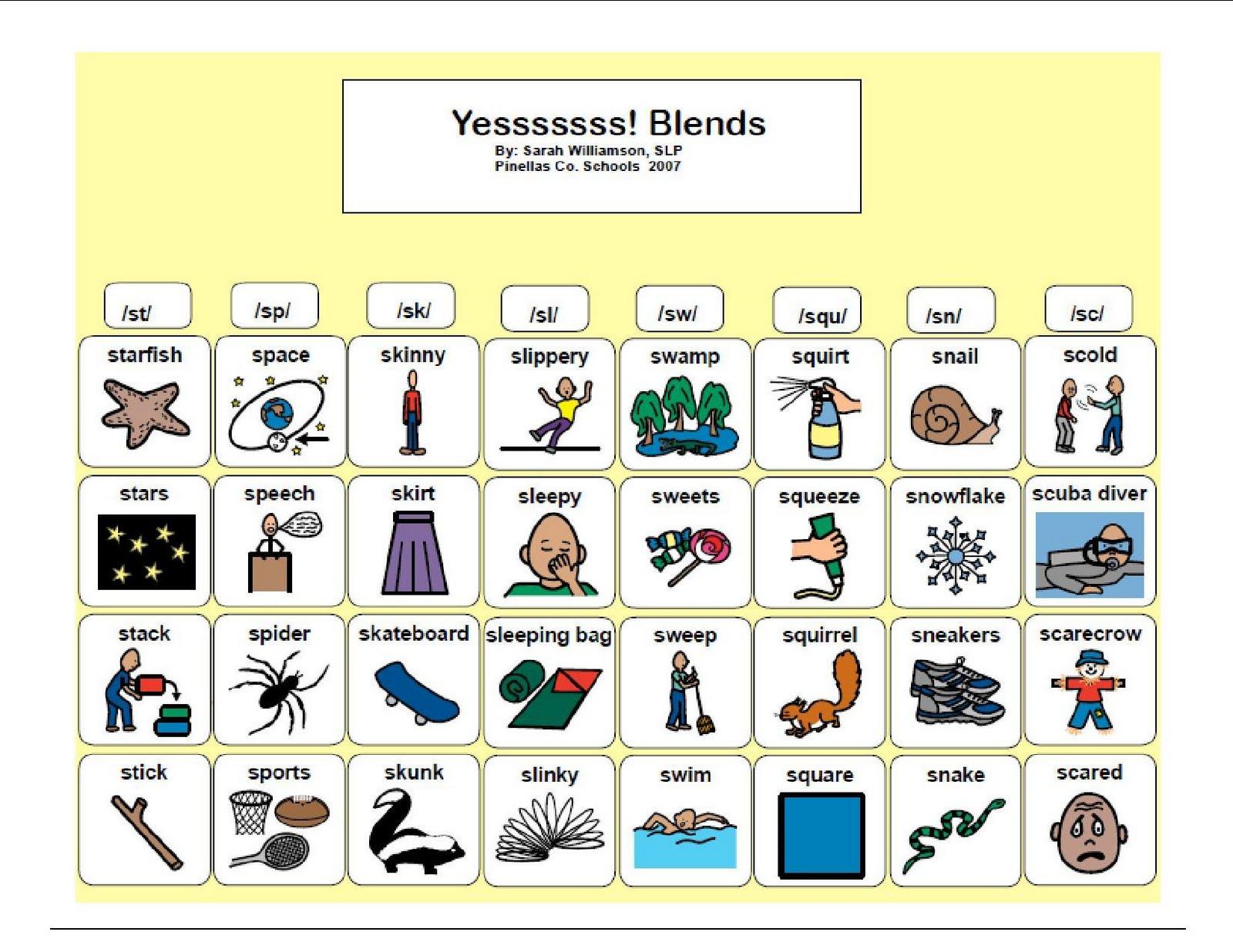 K Blend Worksheets