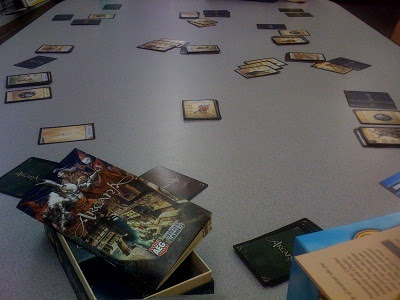 Arcana card game in play