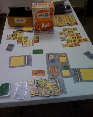 Alhambra - a tile laying game - in mid play