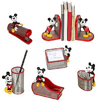 Mickey Mouse 6 Pc Mesh Desk Set