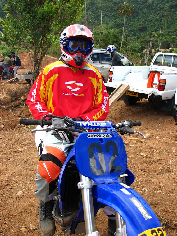 Berry and his YZ400