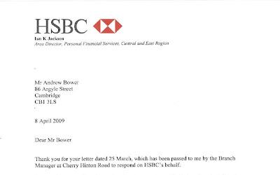 Your Coleridge Conservative Action Team: HSBC Response on Cherry