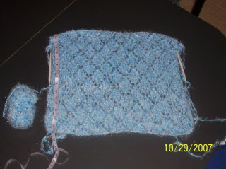 Blue Diamond Lace Shawl