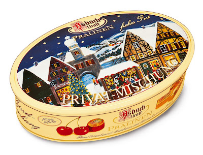 oval Christmas tin