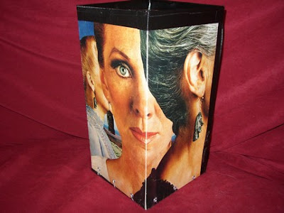 waste basket made from record album cover
