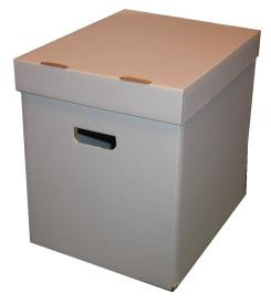 cardboard box with lid; right size for LPs