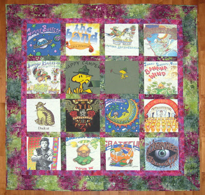quilt from 16 t-shirts