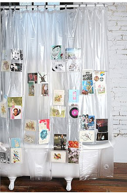 shower curtain with 40 pockets