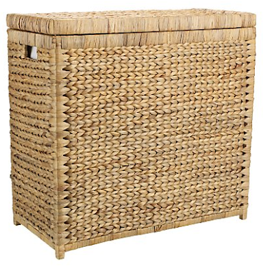 water hyacinth linen basket