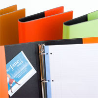 Italian leather 3-ring binders