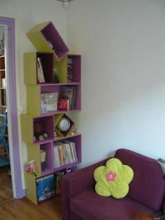 Do It Yourself shelving in green and purple