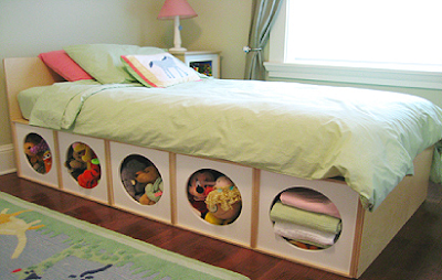 VIA bed with storage underneath