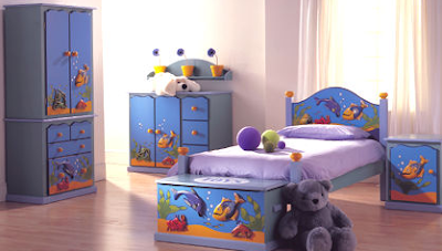 child's bedroom furniture in dolphin theme