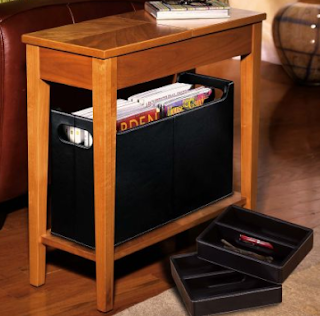Levenger table with storage for small spaces