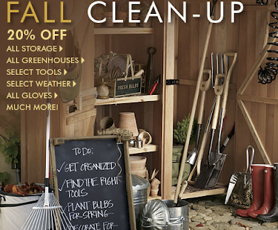 Smith & Hawken ad for fall clean-up; chalkboard to-do list has Get Organized as number one