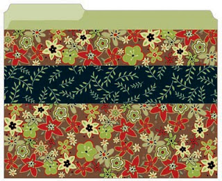 file folder floral autumn colors