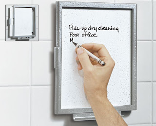 white board for use in shower