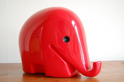 vintage elephant money box