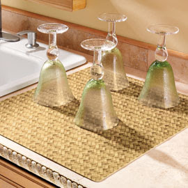 mat for drying dishes or glassware